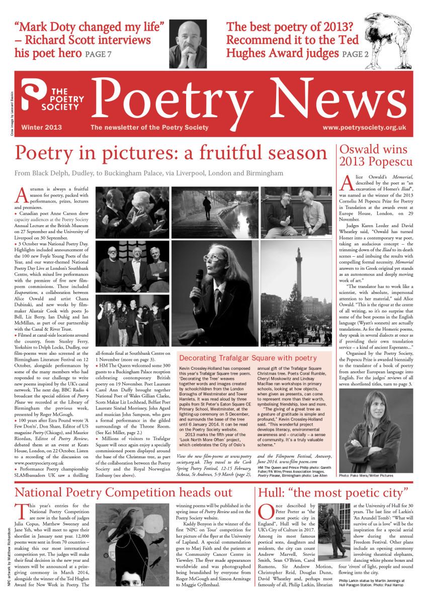 Poetry News Winter 13