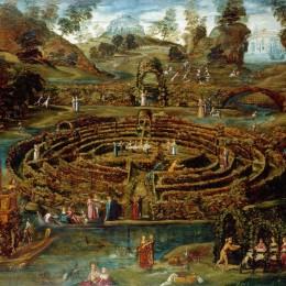 Pleasure Garden with Maze by Lodewijk Toeput