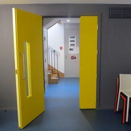 Poetry Cafe basement door