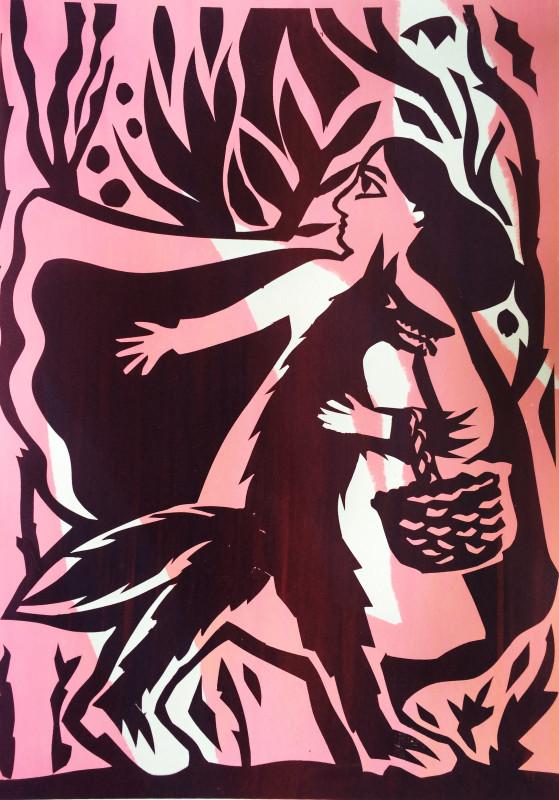 Red Riding Hood by Sophie Herxheimer. Screenprint.