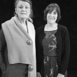 Aileen La Tourette with Lorraine Mariner