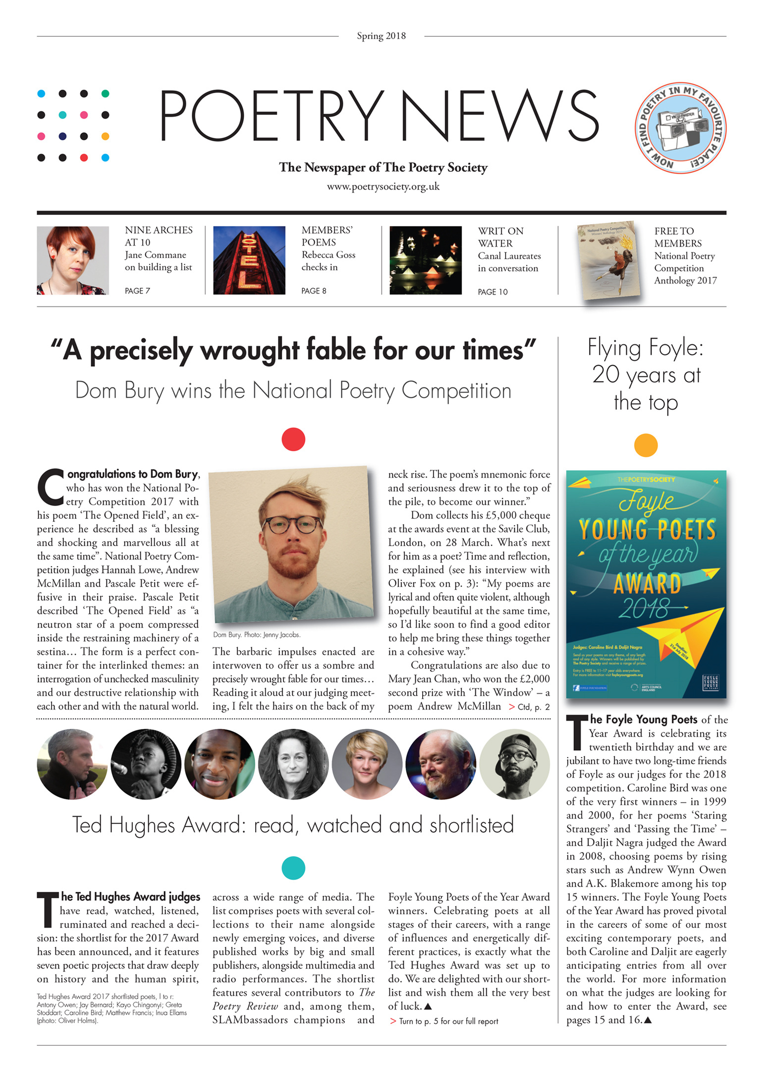 Poetry News spring 2018