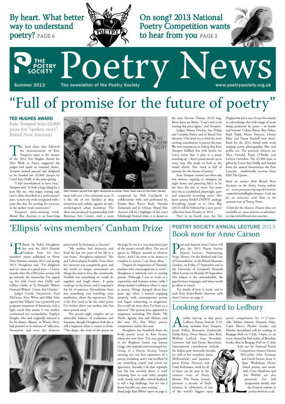 Poetry News Summer 2013