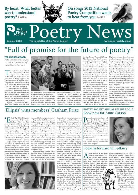 Poetry News Summer 2013