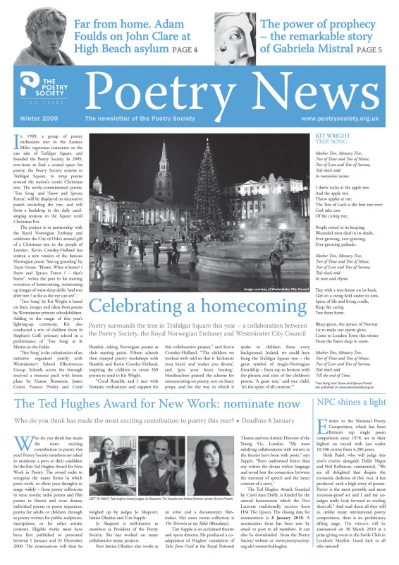 Poetry News Winter 2009/10