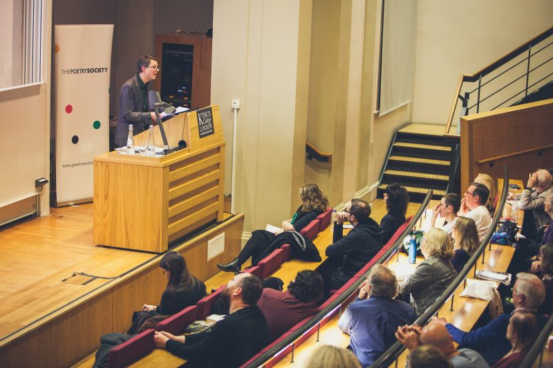 Jan Wagner gives The Poetry Society Annual Lecture in 2017