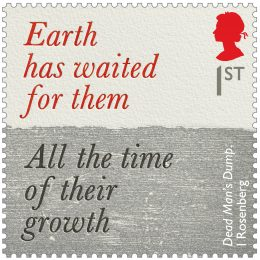 Stamp featuring a quote from 'Dead Man's Dump'
