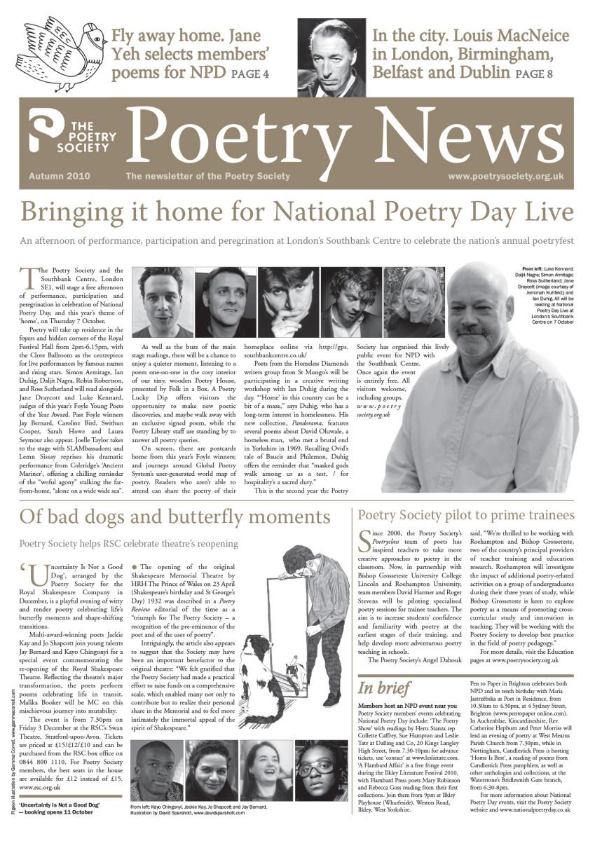 Poetry News - Autumn 10