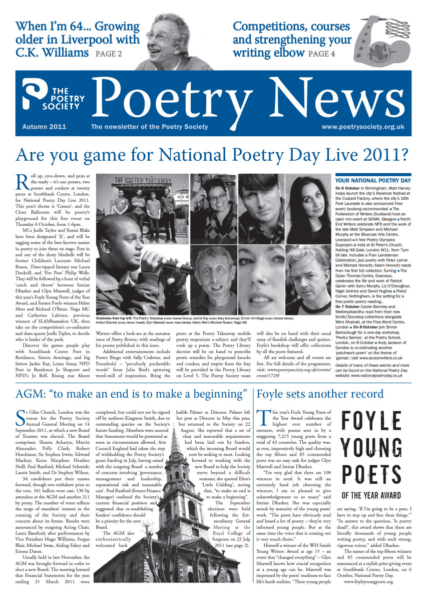 Poetry News Autumn 11