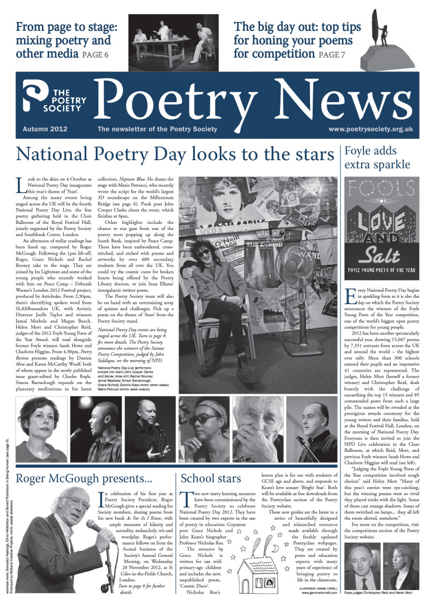 Poetry News Autumn 12