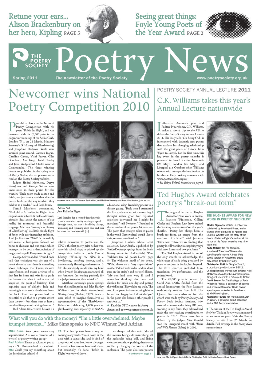 Poetry News - Spring 11