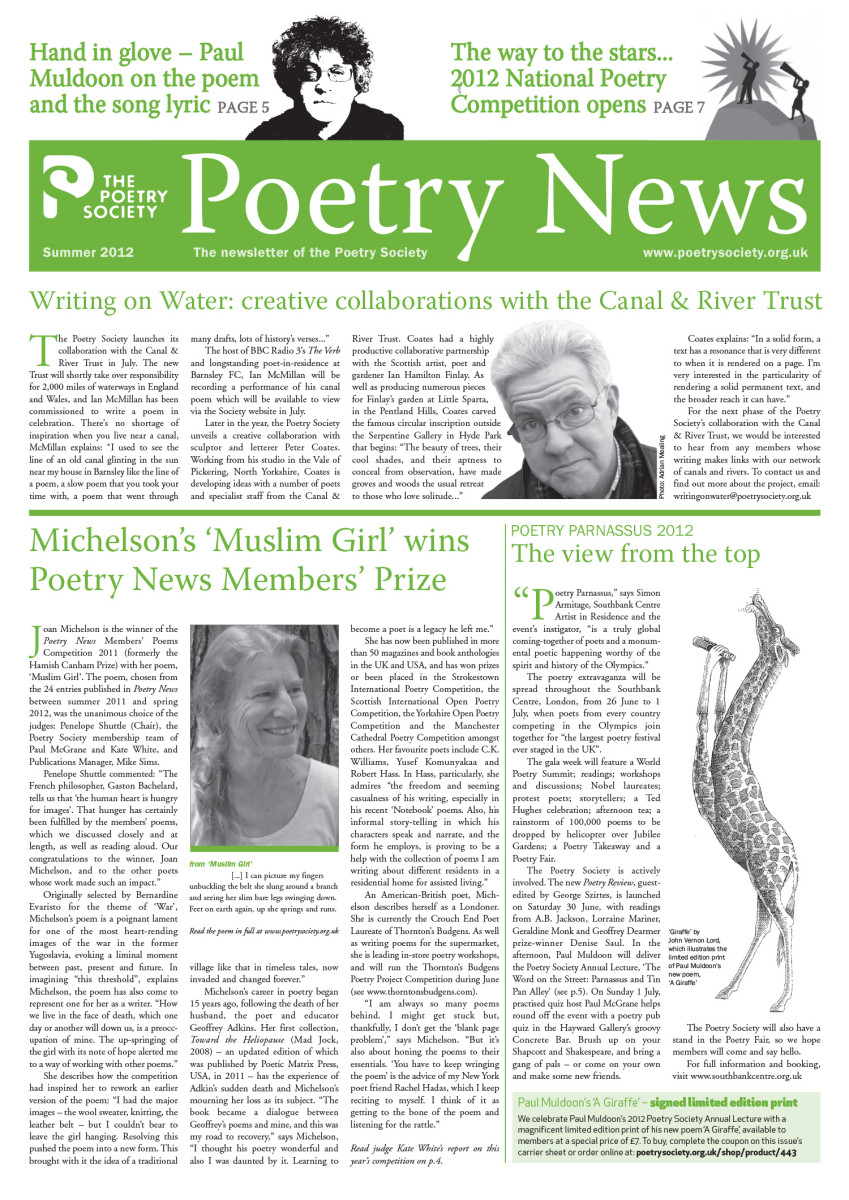 Poetry News Summer 12