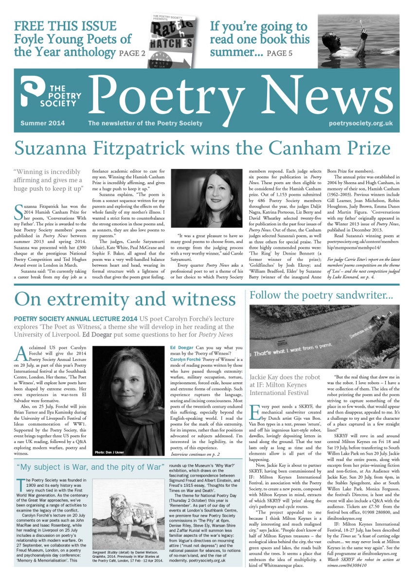 Poetry News Summer 14