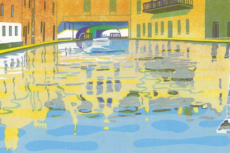 'Gas Basin, Birmingham' by Eric Gaskell for Canal Laureate Project
