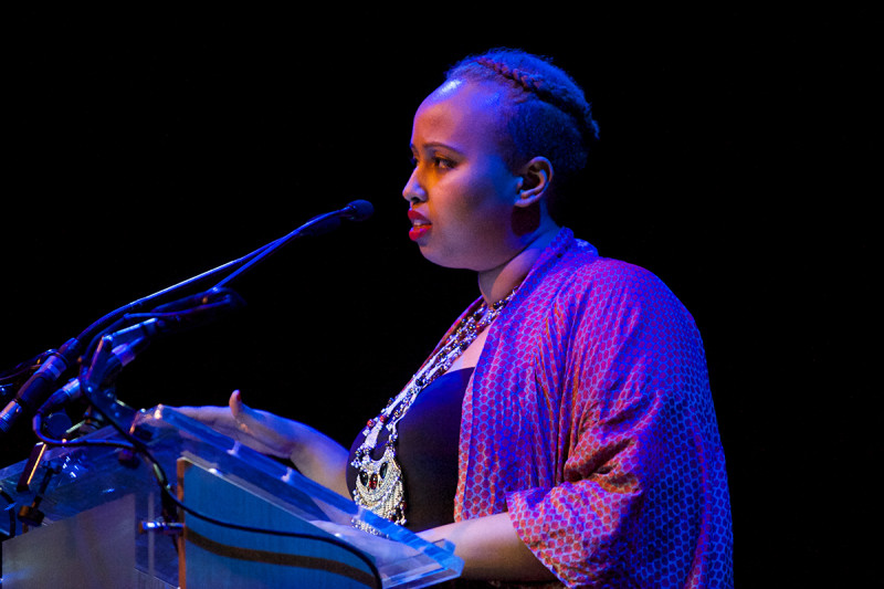 Warsan Shire performing at Southbank Centre