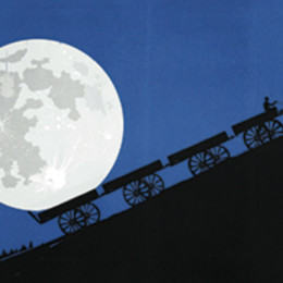 cover of the poetry review, with an image of a full moon