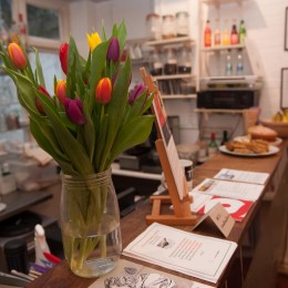 The Poetry Cafe counter