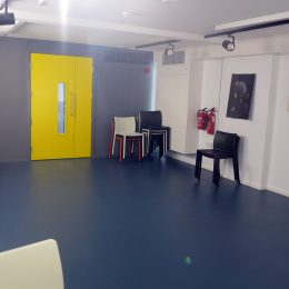Poetry Cafe basement towards the door