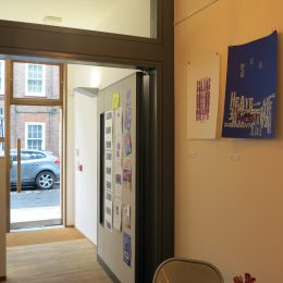 The Poetry Cafe door