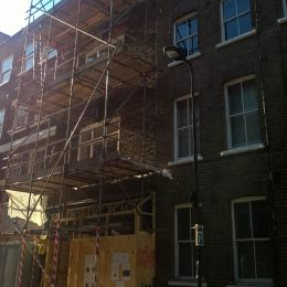 New Poetry Café scaffolding taken 13/3/17