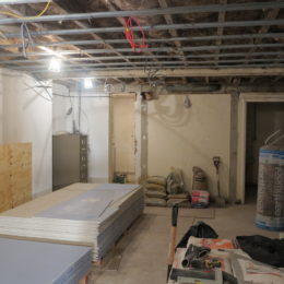 The basement as of 6th January 2017