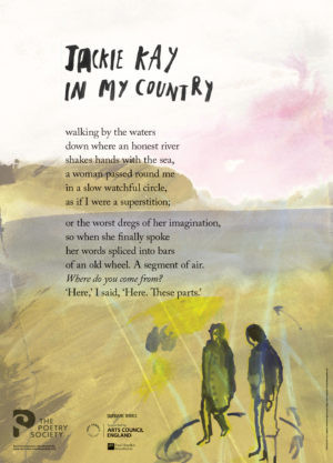'In My Country' by Jackie Kay. Poster by The Poetry Society