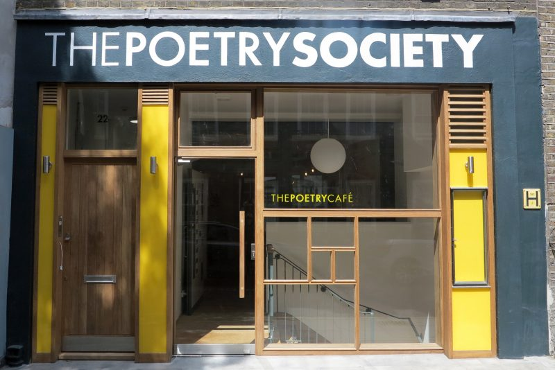 The Poetry Cafe frontage - almost finished