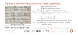 78 Lines to a Movement in Mozart's E-flat Symphony