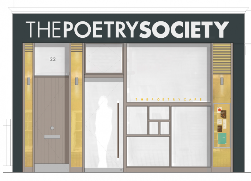The Poetry Café new frontage.