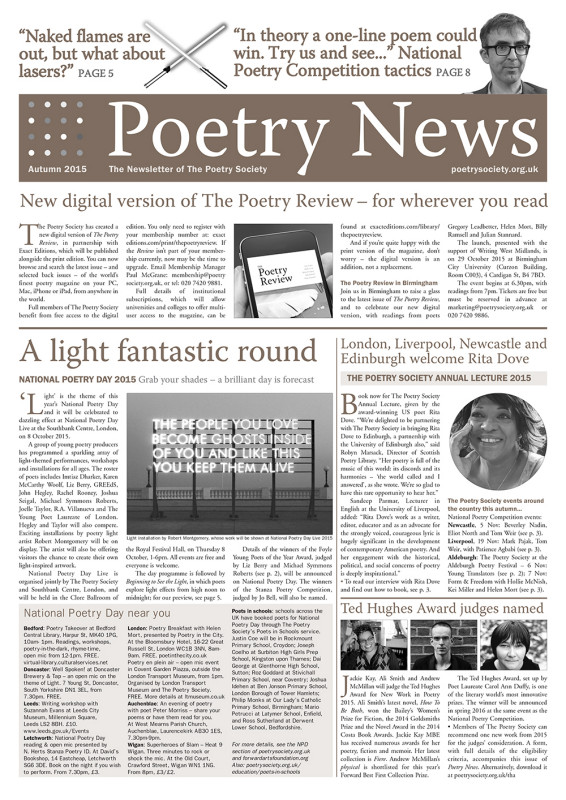 Poetry News Autumn 2015.