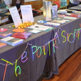 The Poetry Society table