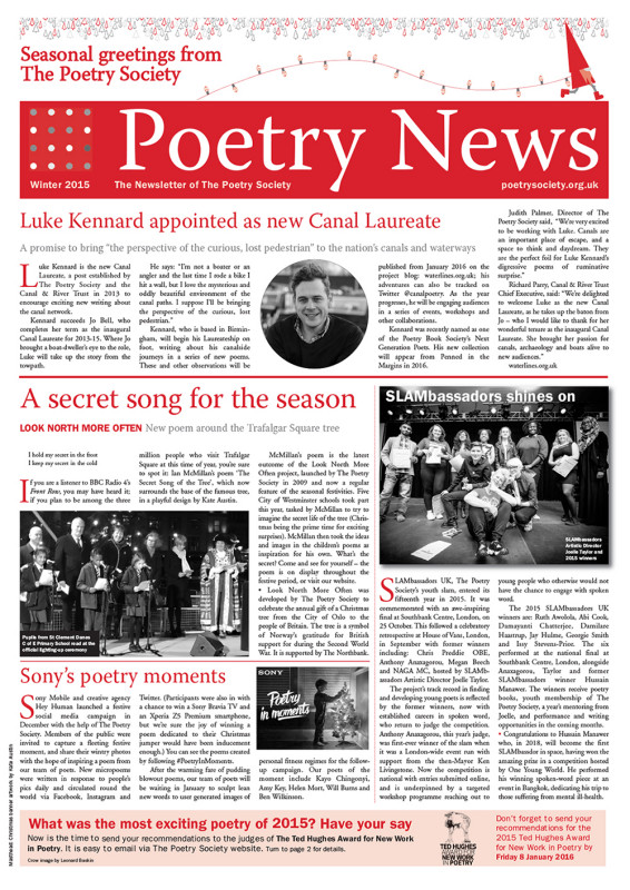 Poetry News winter 2015