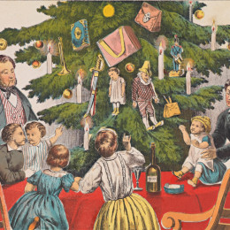 Christmas giving, c. 1860