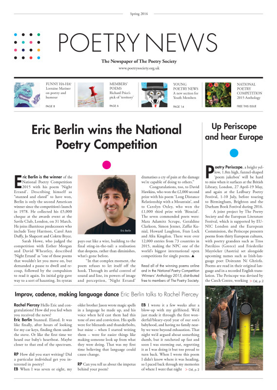 Poetry News spring 2016