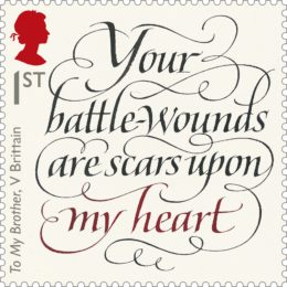 'Your battle-wounds are scars upon my heart' by Vera Brittain