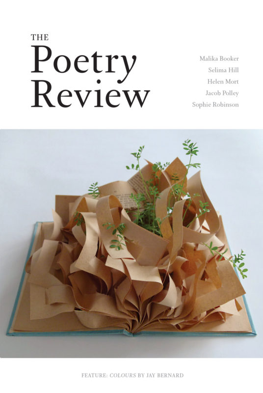 The Poetry Review 106:3 Autumn 2016