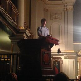 Calum Drysdale at the Poets' Church