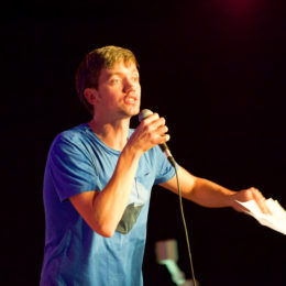 Simon Mole at National Poetry Day Live