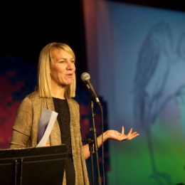Hannah Lowe at National Poetry Day Live