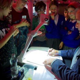 Chris Riddell draws a crowd at National Poetry Day Live