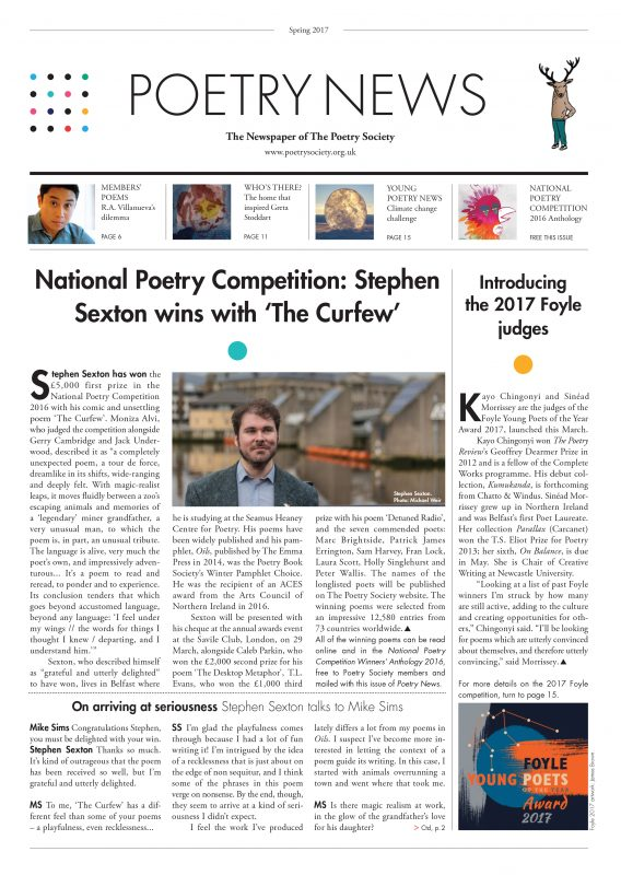 Poetry News spring 2017