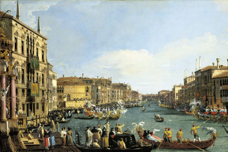 Venice: A Regatta on the Grand Canal c.1733-4. Canaletto. Royal Collection Trust © Her Majesty Queen Elizabeth II 2017