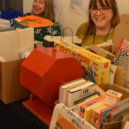 Julia Bird and Kate White on the Tombola