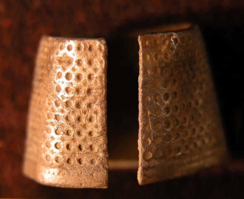 Silver thimble, 1675-1700.