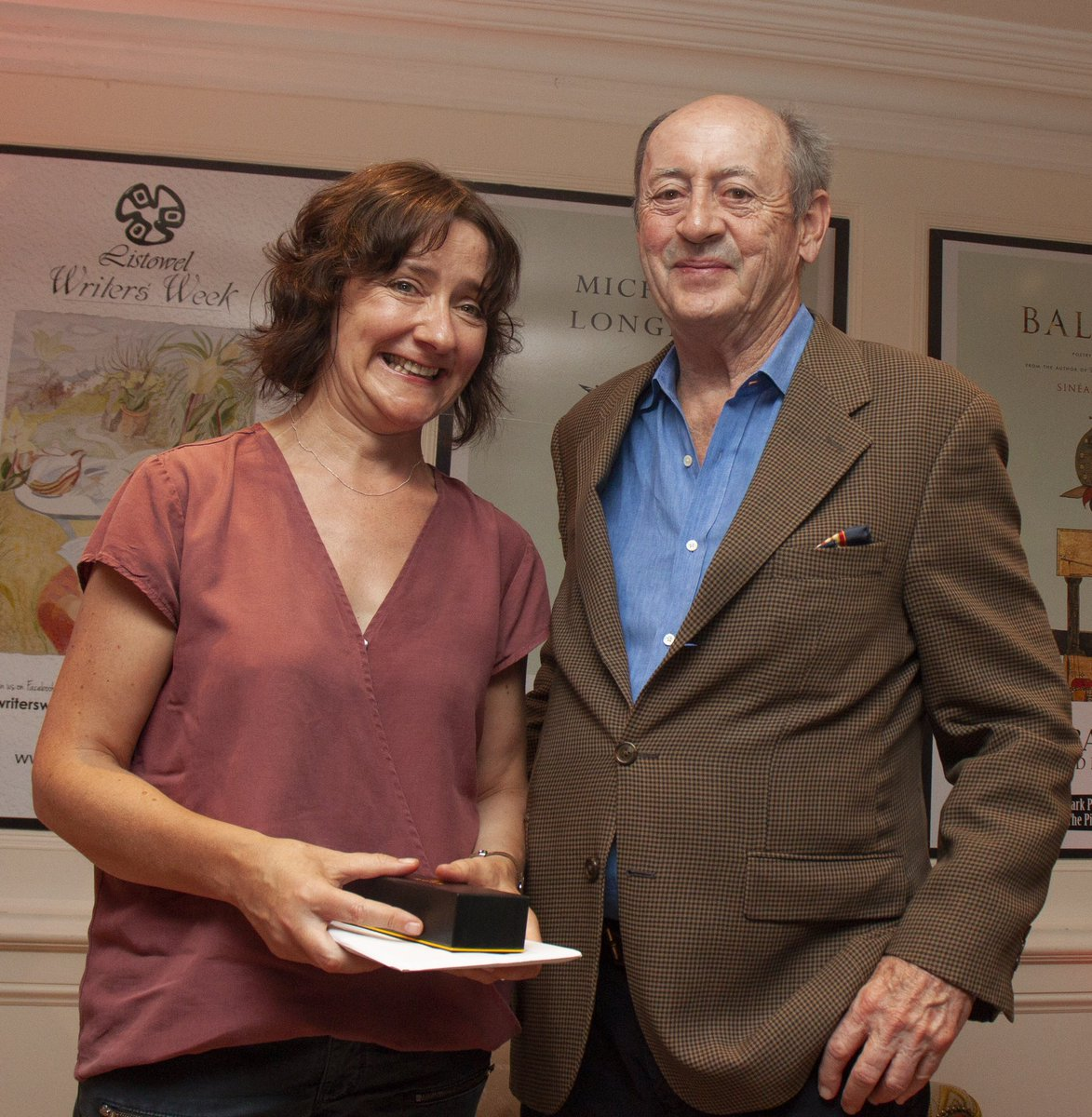 Colette Bryce with Billy Collins