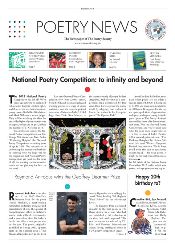 Poetry News Summer 18