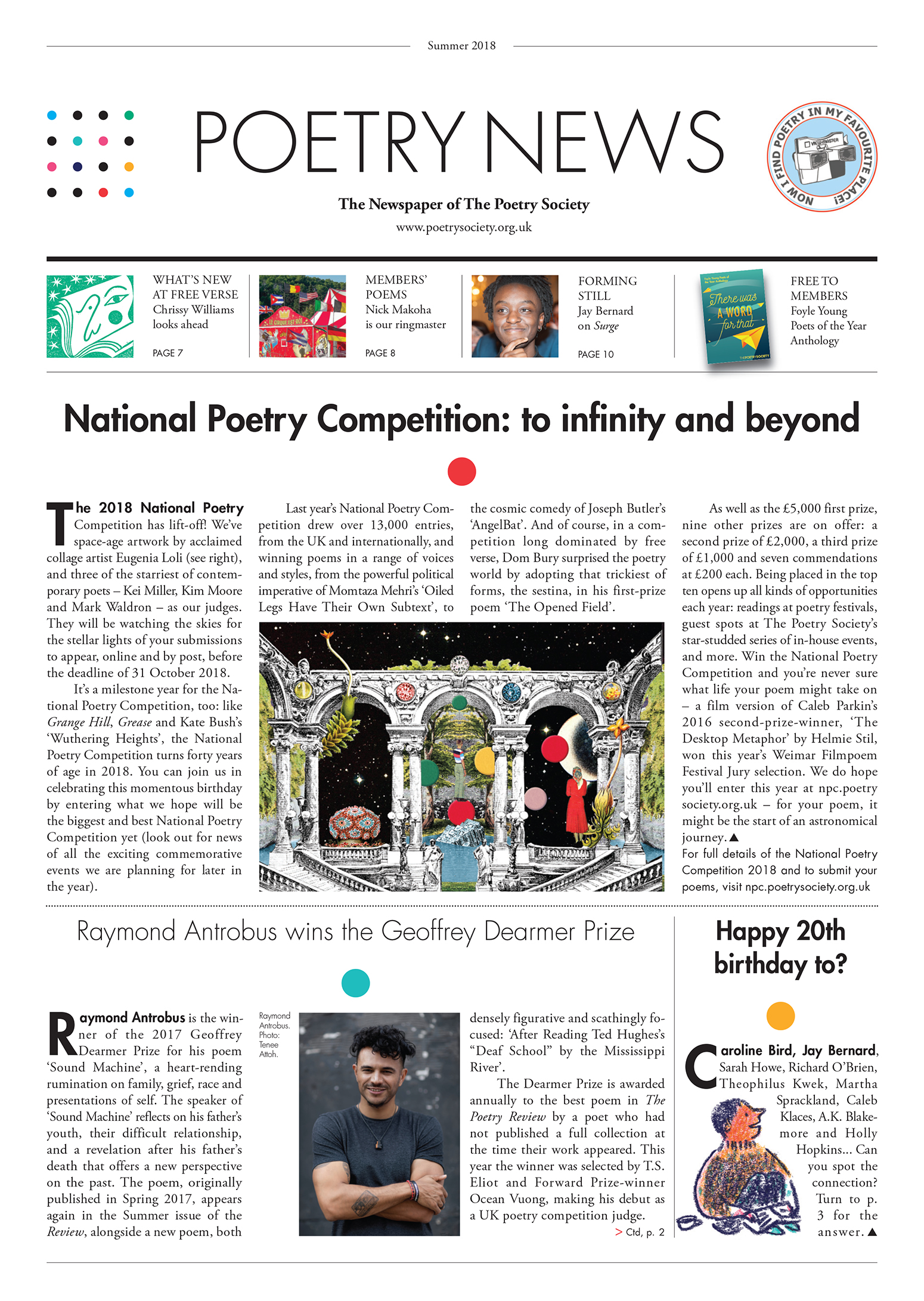 Poetry News Summer 18