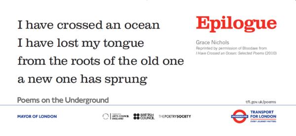 Epilogue by Grace Nichols