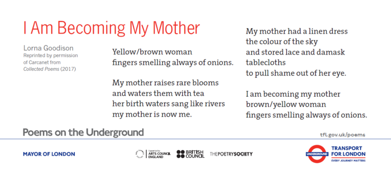 I Am Becoming My Mother by Lorna Goodison