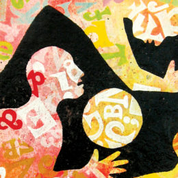 Body Languages - Verbal Gymnastics cropped version of print by Jim Anderson RE